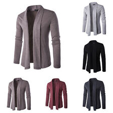 Men's Fashion Smart Casual Solid Color Autumn Thin Coat Jacket Cardigan Tops NEW