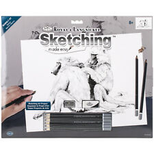 Sketching Made Easy Large Kit 16 Inch X 12.75 Inch-Baboons 090672944320