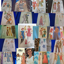 U PICK SEWING PATTERNS VINTAGE MODERN DRESS TOP SLIPS APRONS
