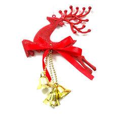 Home Christmas Tree Ornament Deer Bells Chital Hanging Xmas Baubles Decorations