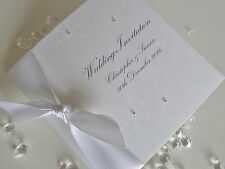 Personalised Christmas / Winter Silver Snowflake Wedding Invitation