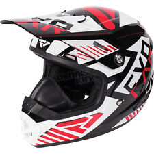 FXR Racing Youth Black/Red/White Throttle Battalion Helmet ( Youth S / Small )