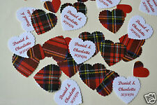 *NEW for 2016* PERSONALISED & TARTAN TABLE CONFETTI includes YOUR NAMES & DATE
