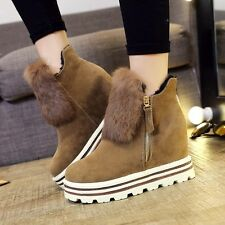 Winter Women's Snow Boots Outdoor Warm Suede Shoes Heighten Plush Moccasins