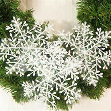 New 30pcs Classic White Snowflake Ornaments Christmas Holiday Party Home Decor