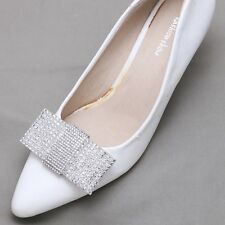 Bridal Wedding Rhinestone Crystal Fashion Metal Bow Boots Shoe Clips Pair