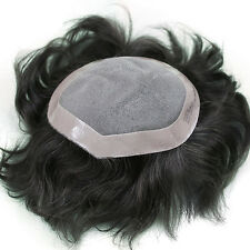 Majik THIN SKIN SUPER SOFT PU MEN HUMAN HAIR TOUPEE HAIRPIECE REPLACEMENT....!!