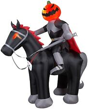 2.4m Projection Airblown Fire and Ice Jack-O-Latern Horseman Halloween Inflatabl