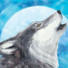 Westland Giftware Call of The Wolf Canvas Wall Art, 38cm by 38cm , The Howling.