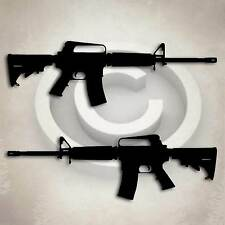 AR 15 Gun Rifle Sticker Military Decal AR-15 Semi Automatic Weapon Graphic