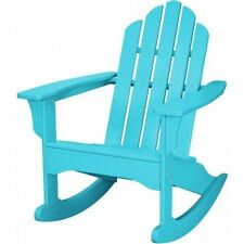 Hanover Outdoor Furniture All-Weather Contoured Adirondack Rocking Chair, White.