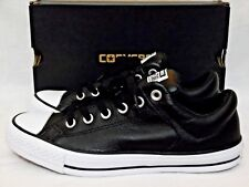 Converse All Star  HIGH STREET 149430C Black Leather Mens 4,6 or Womens 6,8 NEW