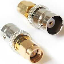 SMA Male to BNC Female Socket Adapter Converter - Antenna Router Coaxial Cable.