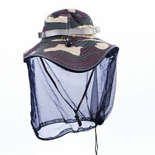 New Woman Man Camo Military Army Anti-Mosquito Fishing Jungle Hat Cap Net Mask