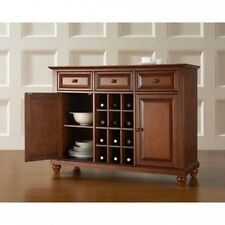 Crosley Furniture Cambridge Buffet Server and Sideboard Cabinet with Wine Storag