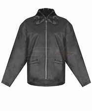 New Womens Soft Real Leather Detachable Fur Collar Ladies Zipper Jacket (XS--XL)