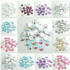 Wholesale 100pcs Sew On Resin Rhinestones Plum flower Buttons beads DIY 10mm