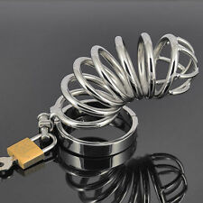 Varied Hot Sexy Male Chastity Device Bird Lock Stainless Steel Cock Cage