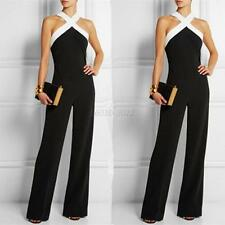 Women Clubwear Halter Party Jumpsuit&Romper Sleeveless Playsuit Bodycon Trousers