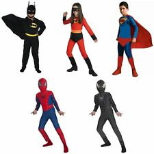Kids Boy Girl Superhero Carnival Fancy Dress Costume Party Outfit Clothes Suit