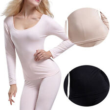 Sexy Women's Modal Long Johns Thermal Underwear Set Warm Top + Pants Sleep Suit