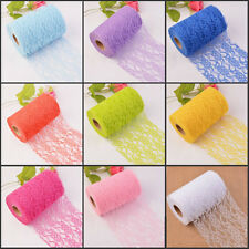 1Roll Floral Lace Wedding Chair Table Runner Sash Ties Party Decor 22M 11 Colors