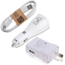 Fast Rapid Car Charger + USB Cables for Samsung Galaxy S4 S6 S7 Edge Note 5 4