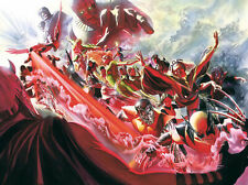 Evolution X-Men 11 Alex Ross PP 15 24x32 Canvas Signed NEW Giclee Marvel Comics