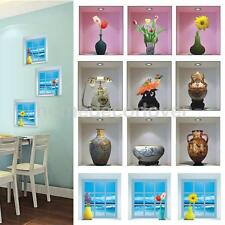 3D Vision Vase Home Decor Removable Wall Sticker Decal Mural Floral Art 4 Types