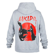 GREY HOODIE MMA AIKIDO IDEAL FOR GYM MMA TRAINING FIGHTERS SPORT CASUAL WAERS