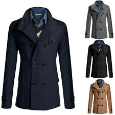 Fashion Coat Double Breasted Trench Coat Long Parka Men Jacket Winter Outwear