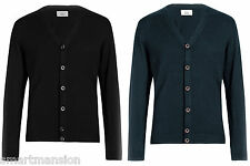New Ex M&S Mens Button Trough V-Neck Cardigan Jumper Sweater Size S-XXL MRP £25