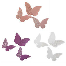 50x Butterfly Pearlescent Laser Cut Glass Place Cards Wedding Party Table Decor