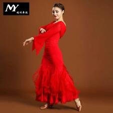 NEW Latin salsa tango Ballroom Dance Dress top & skirt #HB9394