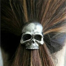 New Punk Skull Hair Tie Cuff Wrap Ponytail Holder Hair Band Rope AccessoriesCNCA