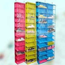 26-Pockets Over the Door Shoe Organizer Space Saver Rack Hanging Storage Tidy