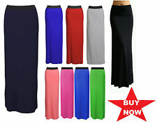 New Ladies Womens Gypsy Long Jersey Maxi Dress Skirt Ladies Skirt Size 6-20 jrsk