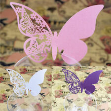 50 Pcs Table Mark Wine Glass Butterfly Name Place Cards Wedding Party Favors