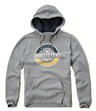 Nwt Hollister By Abercrombie Mens Pullover Hoodie Grey 2016 New
