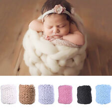 Newborn Baby Infant Photography Photo Props Faux Wool Basket Eggshell Props New