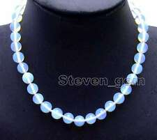 "SALE Beautiful! Big 10mm Blue Round High Quality Opal 17"" Necklace-nec6077"