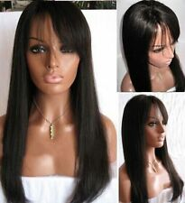 100% Indian Human Hair Natural Straight Baby Hair Full Lace Wigs Lace Front Wigs