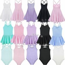 Toddler Girls Kid Gymnastics Ballet Dress Leotard Tutu Skirt Dance wear Costume