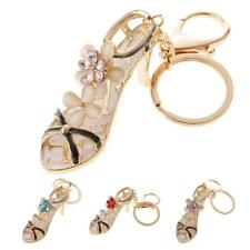 Opal Crystal High-heeled Shoes Crystal Keyring Keychain Purse Bag Key Chain Ring