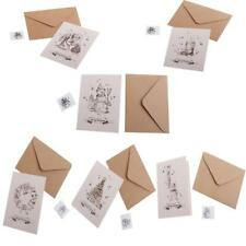 30 Sets Vintage Christmas Greeting Card w/Painted Envelopes Wishing Cards