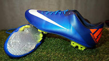 NIKE MERCURIAL VAPOR VII FG UK 10,5 US 11,5 BLUE FOOTBALL BOOTS SOCCER CLEATS