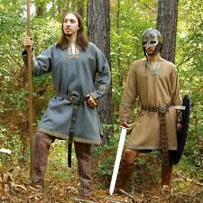 Viking Woollen Tunic In Brown or Grey. Perfect - Re-enactment Stage Costume LARP