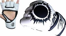 Authentic A-Leather MMA UFC Grappling Gloves Fight Boxing Punch Bag Cage Mitt US