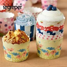 50PCS Paper Baking Cupcake Muffin Case Cake Cup Liners Boxes For Wedding Party