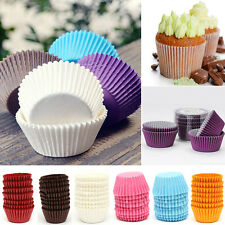 100PCS Solid Party Mini Paper Cake Cupcake Liner Case Wrapper Muffin Baking Cup